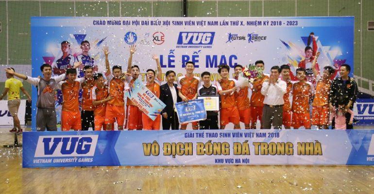Đại học FPT giành ngôi vô địch futsal VUG 2018 - Khu vực Hà Nội
